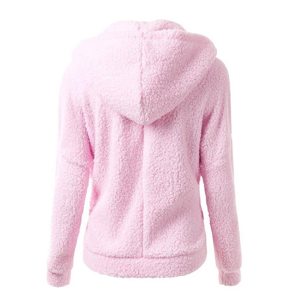 HTB17ZlBX4rvK1RjSszeq6yObFXa7 Women Solid Color Coat Thicken Soft Fleece Winter Autumn Warm Jacket Hooded Zipper Overcoat Female Fashion Casual Outwear Coat