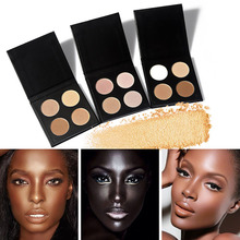 Professional Face Makeup Beauty Glitter Shimmer Bronzers Highlighters Contour Matte Powder Eye shadow Palette Cosmetic 4 Color