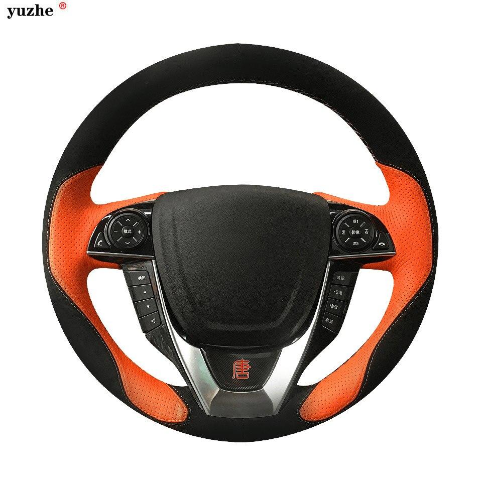 Yuzhe Personnalisé En Cuir Véritable Couverture De Volant de Voiture Pour BMW E60 E63 E64 M5 E46 E39 E90 Couverture De Volant De voiture accessoires