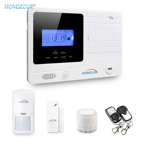 HOMSECUR LCD Wireless&wired GSM SMS Burglar Alarm System+PIR Sensor+120dB SirenHOMSECUR LCD Wireless&wired GSM SMS Burglar Alarm System+PIR Sensor+120dB Siren