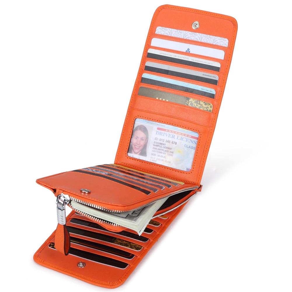 JEEBURYEE Womens Wallets Leather Credit Card Holder Women ...