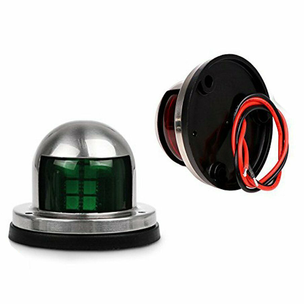New Red Green Signal Light Waterproof Stainless Steel Housing 12V/24V Navigation Lamp For Yacht DOM668