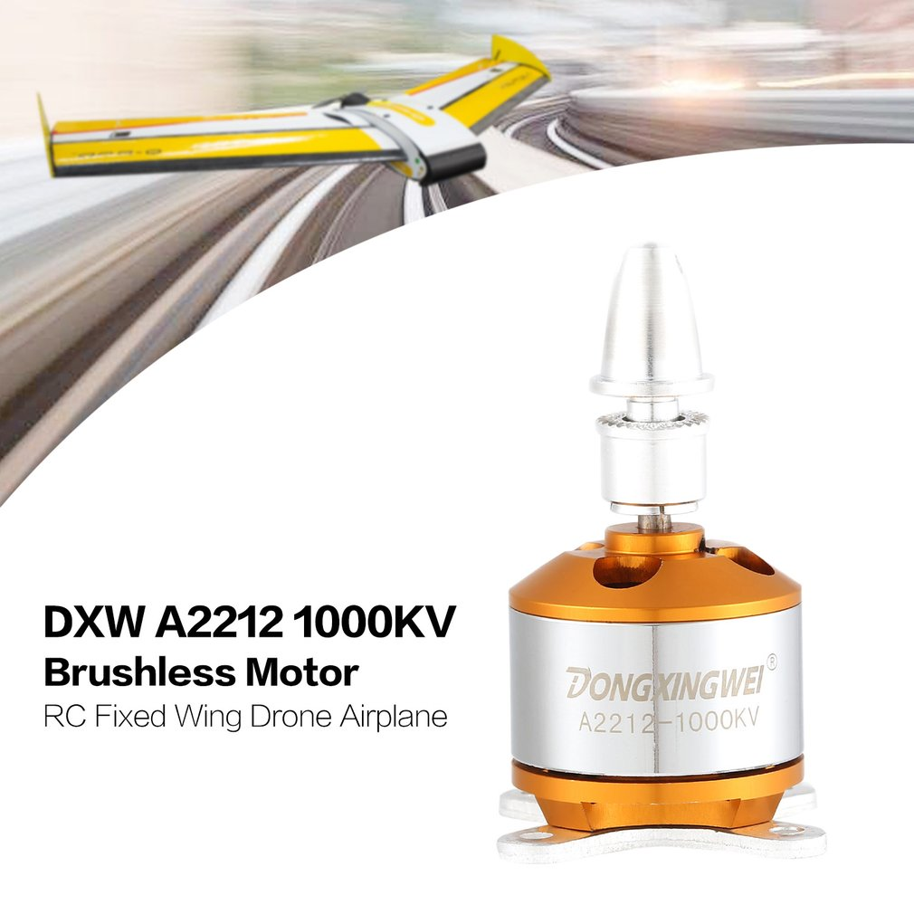Image 3 - DXW A2212 2212 1000KV/1400KV 2 4S 3.17mm Outrunner Brushless Motor for RC FPV Fixed Wing Drone Airplane  1047/9050 Propeller-in Parts & Accessories from Toys & Hobbies
