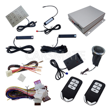 Top PKE Car Alarm System Finger Touch Button Start Engine Remote Start Engine Password Entry With Shock Sensor Auto Arm/Disarm