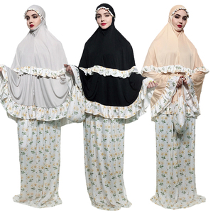 hijab abaya djellaba femme caftan marocain bangladesh dubai abaya muslim sets indonesia clothing hijab evening dresses with bag