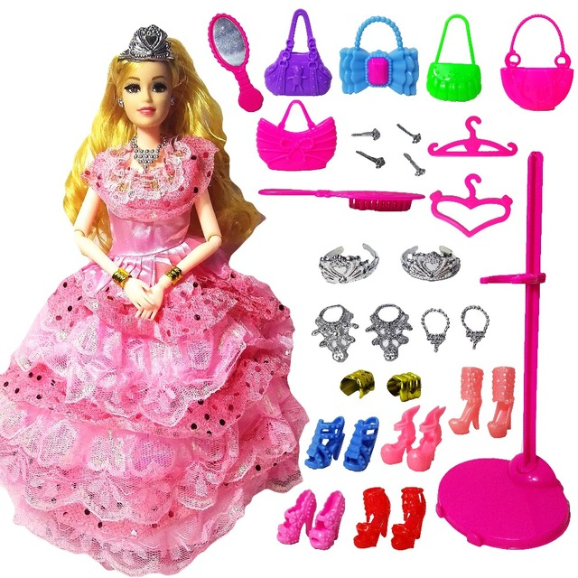 New Fashion Doll Party Wedding Dress Barbie Dolls New Style Moveable Joint Body Plastic Classic Toys Best Gift for Girls Friends