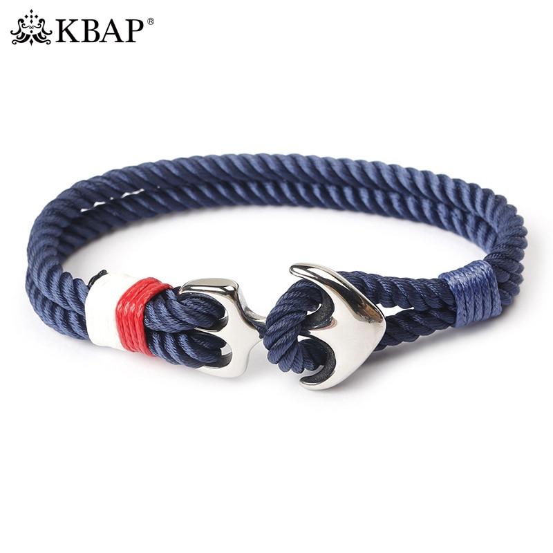 KBAP Women Men's Fashion Anchor Bracelet Nautical Rope Viking Bracelets Wristband Friendship Bracelets Favor Gift for Boys Girls