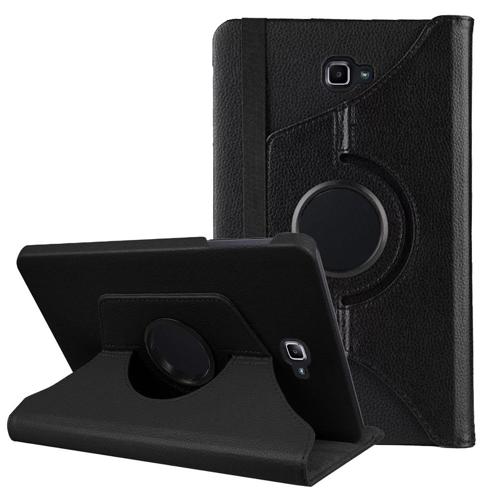 Samsung Galaxy Tab A6 A5 T580 T585 T587 planşet üçün 360 dərəcə dərəcə fırlanan flip pu dəri üçün örtük