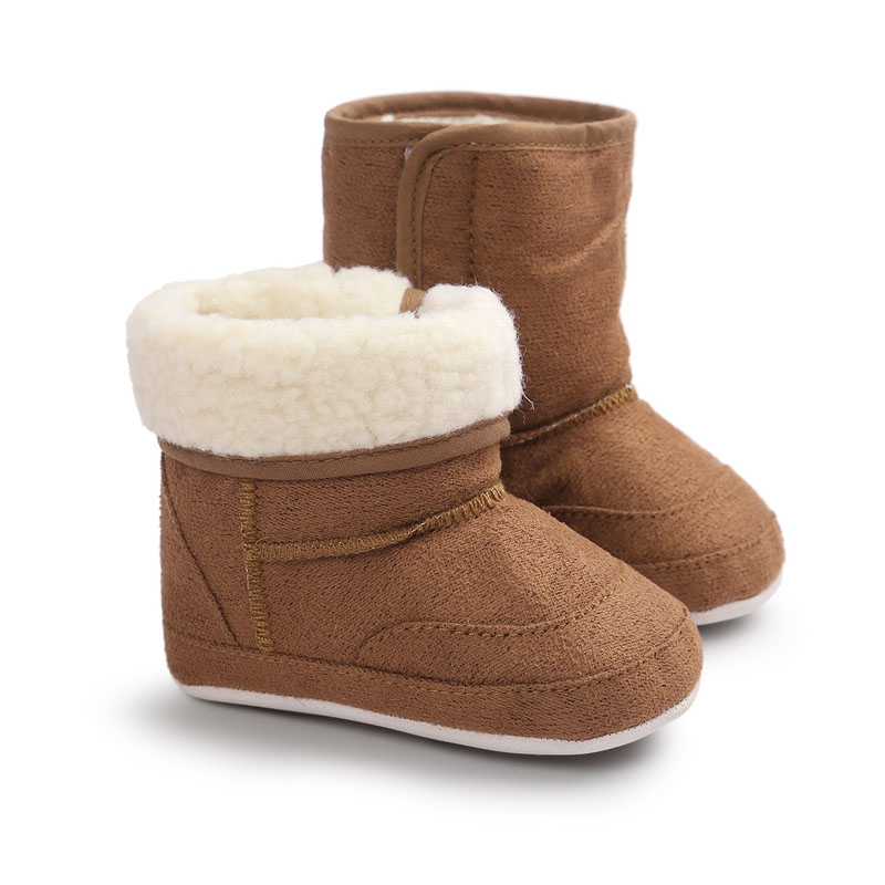 WONBO New Winter Super Warm Newborn Baby Girls First Walkers Shoes Infant Toddler Soft Rubber Soled Anti-slip Boots Booties