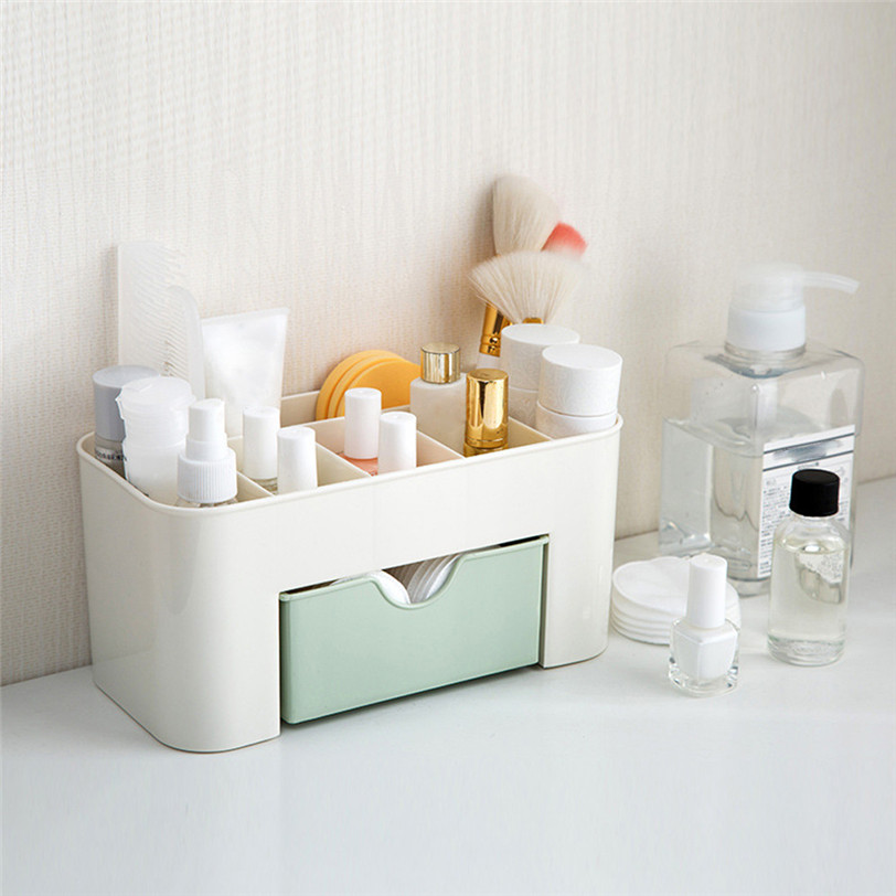 Desktop Comestics Makeup Storage Drawer Type Box Saving Space makeup organizer make up organizador makeup case professional box