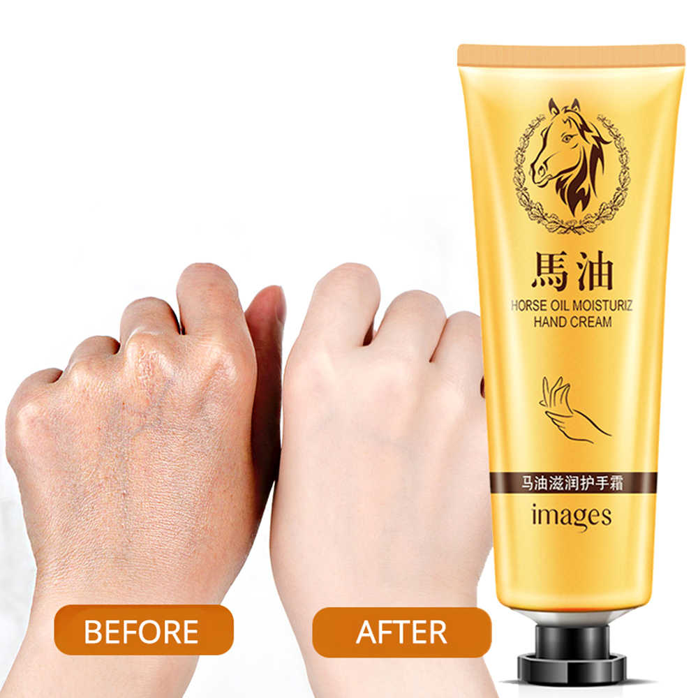 Horse Oil Repair Hand Cream Moisturizing Anti-Aging Skin Whitening Hand Cream Skincare Nourishing Crema De Manos Winter TSLM1