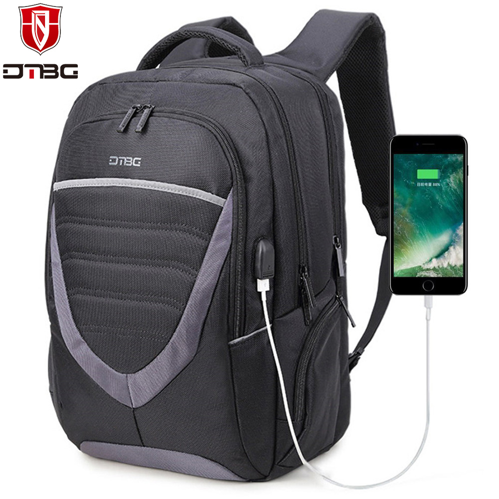 DTBG 15 15.6 Inch Laptop Backpack Waterproof Rucksack with Charge USB Port College School Bag Business Computer Bag for Macbook