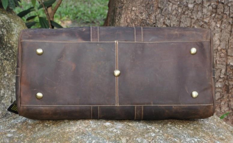NEWEEKEND 9551 Vintage en cuir de vachette véritable fermeture à glissière souple grande sacoche pour ordinateur portable sac à main voyage bagage sac pour homme-in Voyage Sacs from Baggages et sacs    3