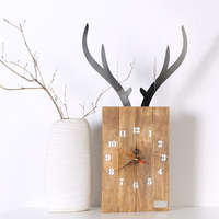 Modern Design Wall Clock For Home Decoration Vintage Wood Wall Clock Retro Europe Style Wild Animal