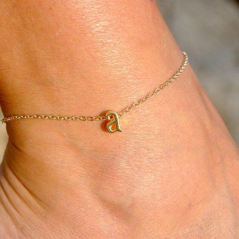 GlintLife | Letter custom ankle bracelet | For feet beauty