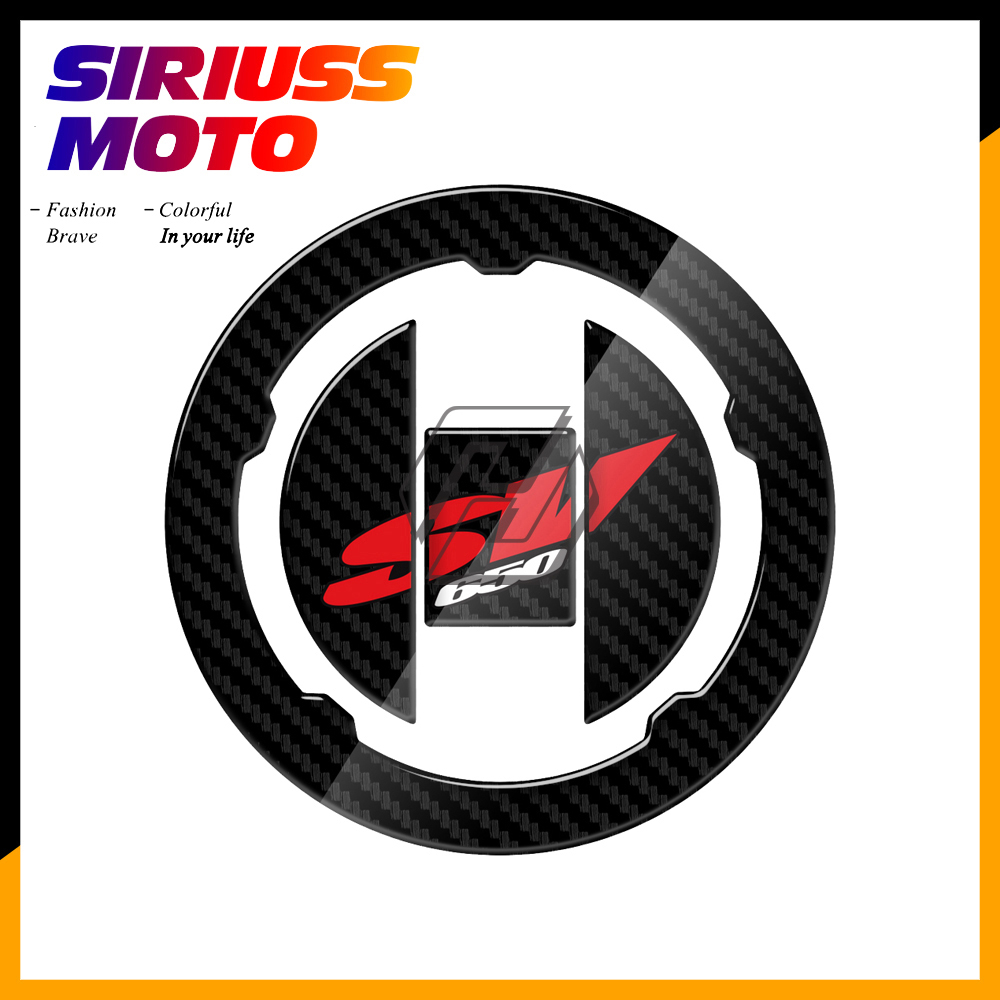 3D Carbon-look Motorcycle Fuel Gas Cap Protector Decals Case for <font><b>Suzuki</b></font> SV650 SV650A SV650S SV <font><b>650</b></font> 2003-2009 image