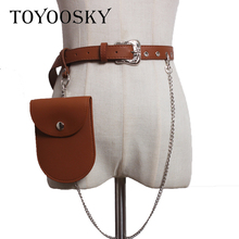 TOYOOSKY Fashion PU Women Waist Bag Belt Female 2018 Brand Money Phone Packs Fanny Pack for Belts Leather Bum Pouch