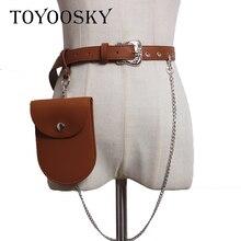 TOYOOSKY Fashion PU Women Waist Bag Belt Female 2018 Brand Money Phone Waist Packs Fanny Pack for Women Belts Leather Bum Pouch