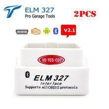 2 шт. wow CDP белый супер мини elm327 Bluetooth V2.1 OBD2 ELM 327 Bluetooth Smart Car диагностических работ на Android