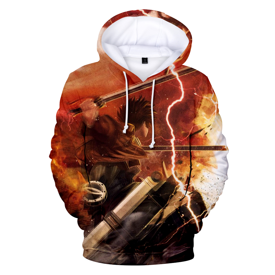 2018 Japan Popular Anime Attack on the Giant 3D Print Hoodie Sweatshirt Fashion Anime TV Show Men's / Women's Loose Hoodie image