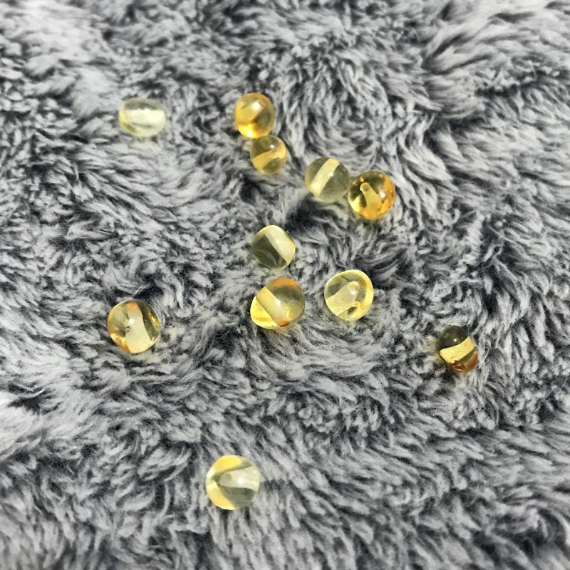 amber beads (6)