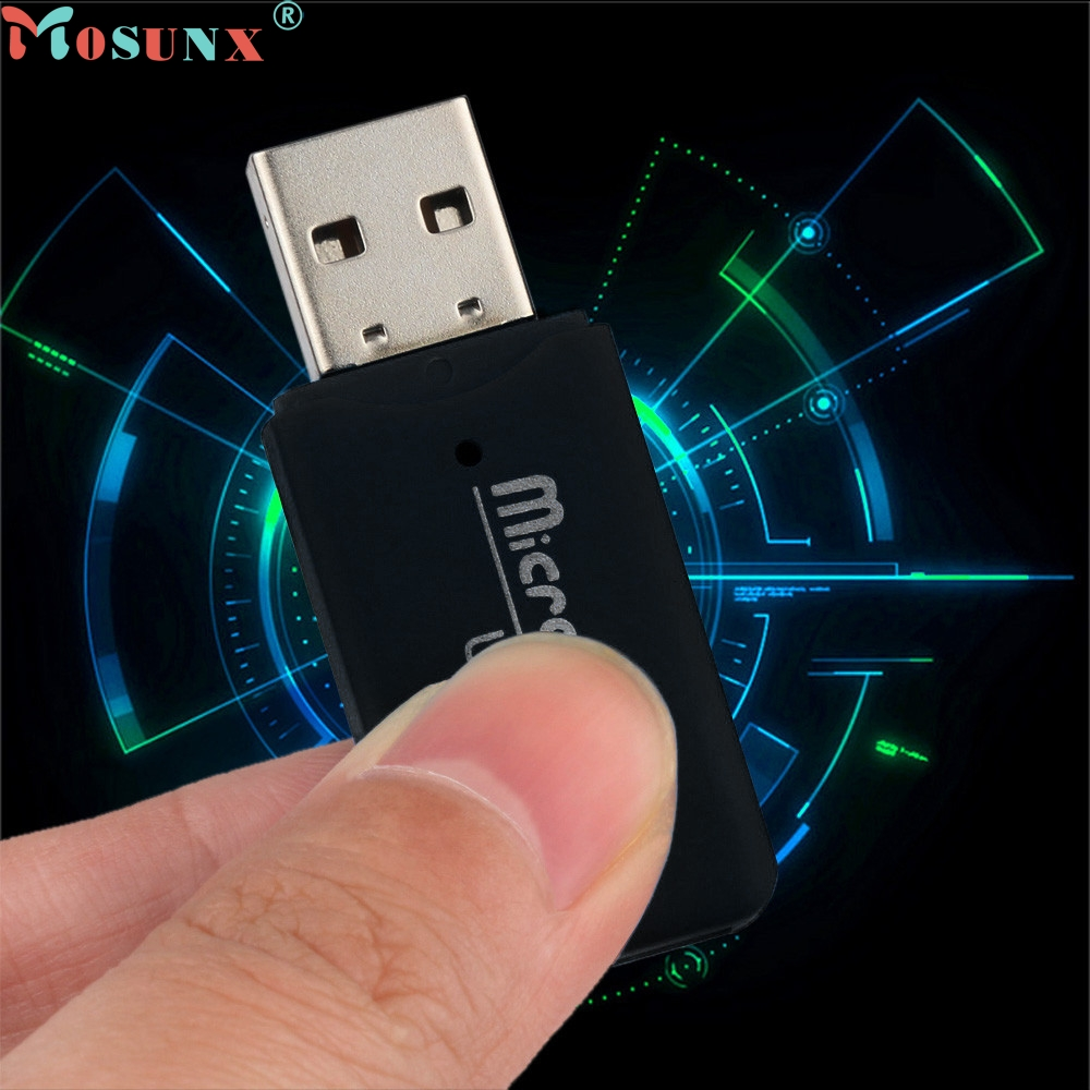 Ecosin2 USB 2.0 Micro SD SDHC TF Flash Memory Card Reader Mini Adapter For Laptop de tarjetas de memoria NJAN24