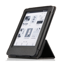 High quality Folio Genuine leather Case Cover For Amazon kindle paperwhite 1 2 3 4 E BOOK Protective shell + Stylus