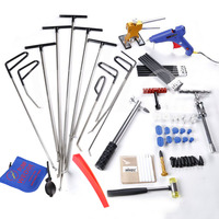 WHDZ Auto Body Dent Removal Pdr Rod Tool Kit PDR Slide Hammer Gule Gun Tap Down Handle Lifter PUMP WEDGE LOCKSMITH TOOLS