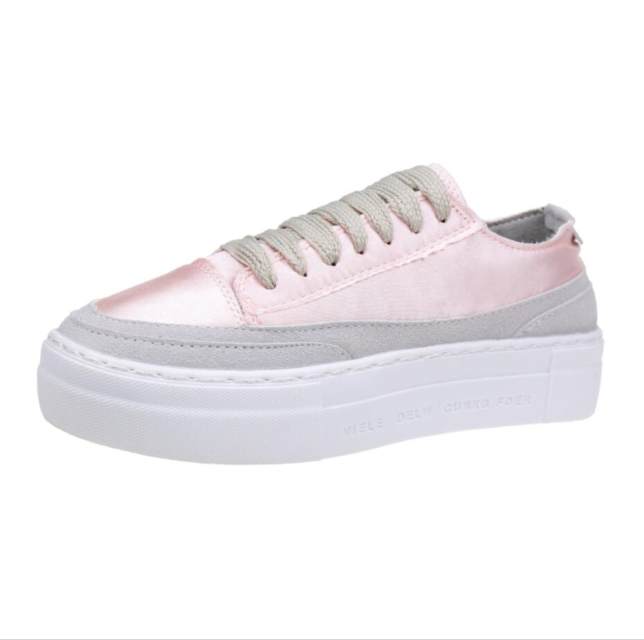 XWWDVV Spain niche shoes casual versatile canvas shoes new thick bottom flat white shoes women 45