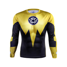 New 2017  Green Lantern Movies Long Sleeve Print 3D Shirt Cosplay Tops Mens Casual Brand Shirt Male Costume