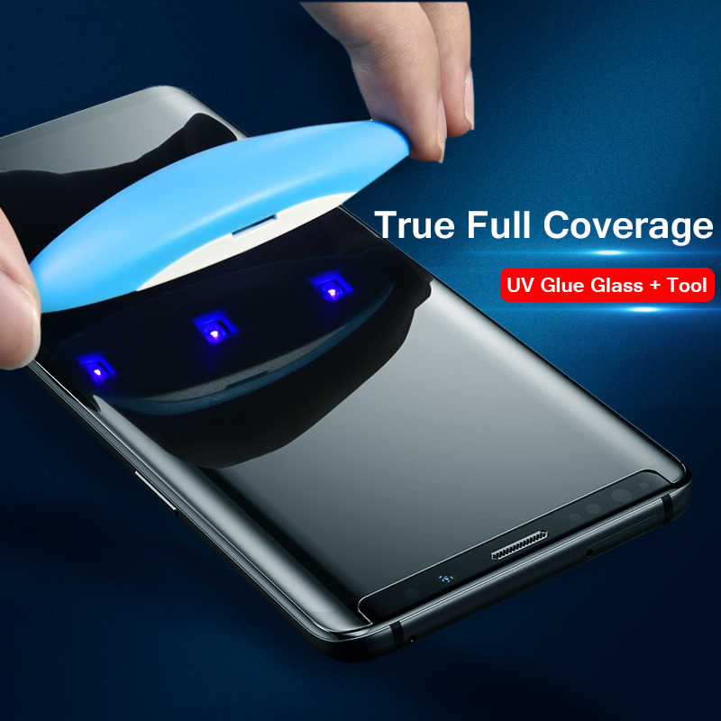 6D UV Liquid Full Glue Cover 9H Tempered Glass For Samsung