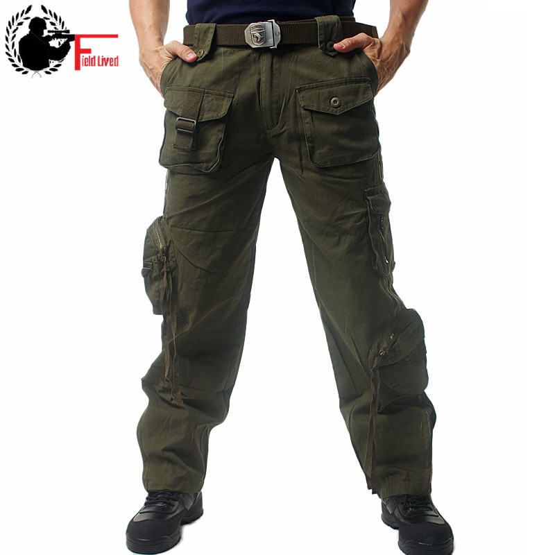 Tactical Pants Men's Multi Pocket Trousers Casual Combat Military Work Pants Cotton Army Clothing Camouflage Cargo Pants Male