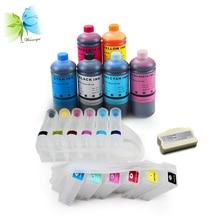 WINNERJET ciss cartridge + chip resetter + dye ink for Epson PP100 PP-100II Discproducer printer