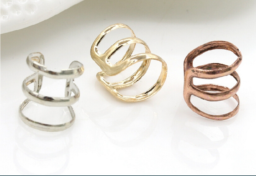 e 007 1 piece New punk rock ear clip silver gold men and women without ear piercings earrings party jewelry couple jewelry acces 2