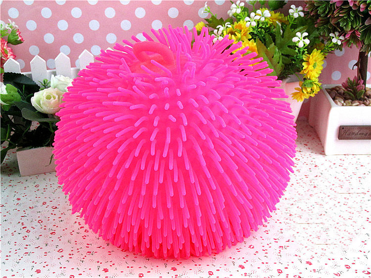 All Densely Hairy Vent Ball Light Flash Ball Children's Software To Vent Toys