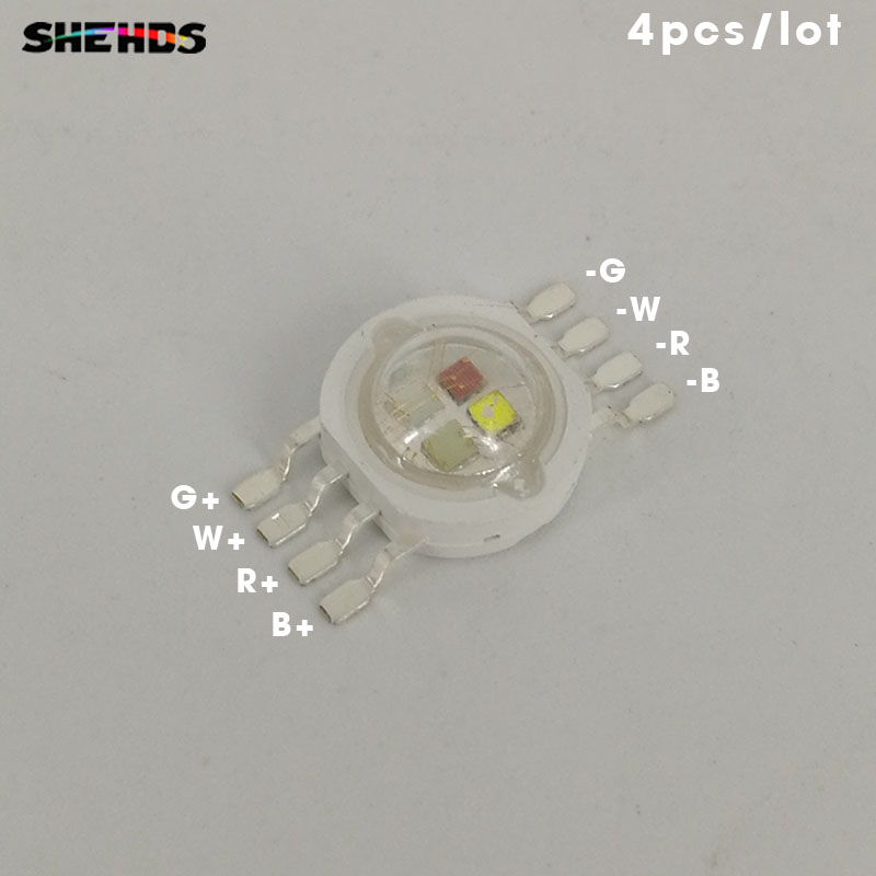 4pcs/lot Fast Shipping LED RGBW 4in1 Lighting LED Chips red/green/bule and white,SHEHDS Stage Lighting