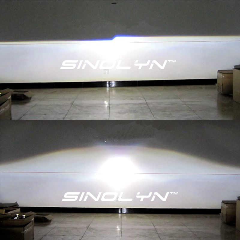 Биксеноновые линзы Sinolyn 2,5 дюйма с ангельскими глазками для автомобильных фар H7 H4 Автомобильные фары H1 светодиодсветодиодный/HID линзы лампы аксессуары для модификации
