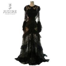 Rosetic Gothic Maxi Dress Svart Kvinnor Sommar Snör A-Line Goth Lång Casual Mode Ung Tjej Party Hål Midje Prom Kjole 2018
