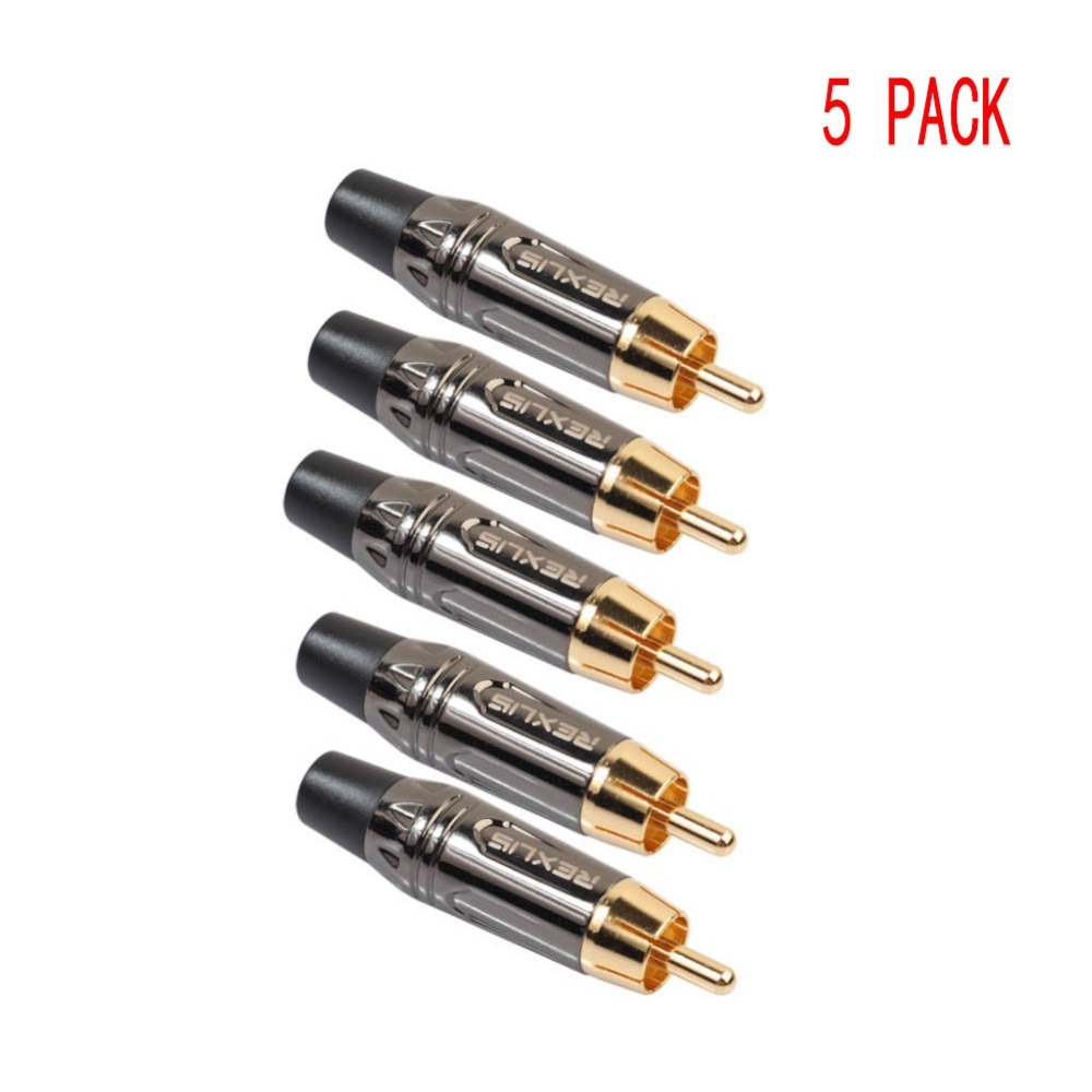 Edal 5pcs/lot DIY gold snake RCA Plug HIFI Goldplated Audio Cable RCA Male Audio Video Connector Gold Adapter Converters