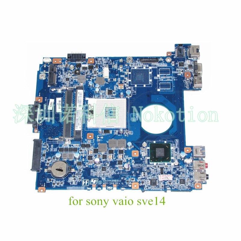 A1876091A DA0HK6MB6G0 MBX-268 For Sony SVE14118FXW SVE14 SVE141L11T SVE141D11L Motherboard Main Board S989 HM76 HD Graphics