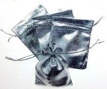 50 unids 9*12 cm bolso de lazo bolsas de mujer de la vendimia de Plata para La Boda/Fiesta/de La Joyería/de la Navidad/bolsa de Envasado Bolsa de regalo hecho a mano diy