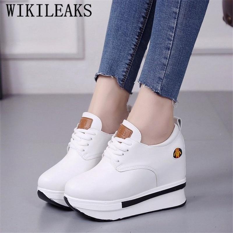 New Height Increasing Shoes Woman Platform Sneakers Women