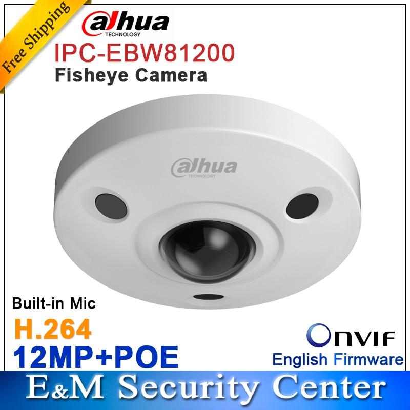 imágenes para Original dahua DH-IPC-EBW81200 12 M Ultra HD de Red A prueba de Vandalismo IR Cámara de ojo de Pez IP67 IPC-EBW81200