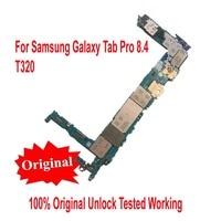 100% Original Working Unlock MainboardFor Samsung Galaxy Tab Pro 8.4 T320 WiFi Motherboard card fee flex cable Logic Circuits