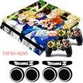 Dragon Ball Z GOKU série Heros PS4 pele de Vinil Fino caso protetora da pele decalque adesivo + presentes para playstation 4 slim Console