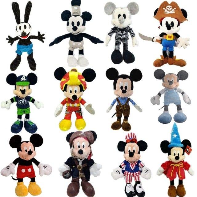 1 unids/lote 20-60 cm de felpa pirata mickey edición ratón teledirigido juguetes de la muñeca juguetes de los niños artículos de decoración para niños regalo de