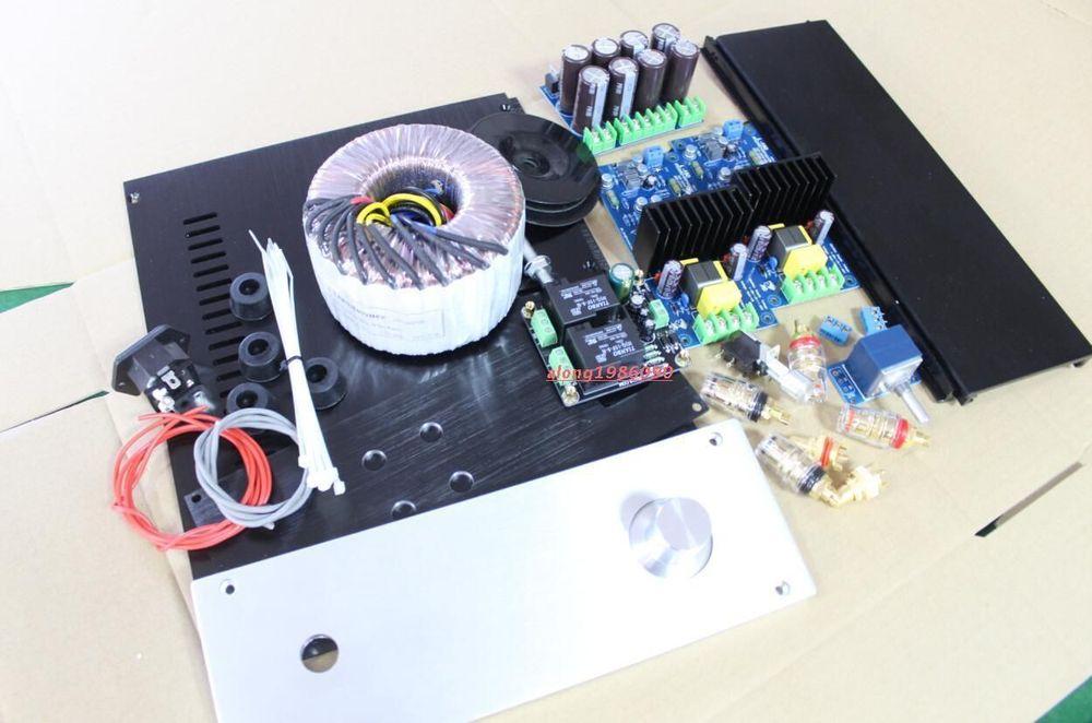 Nouveau amplificateur DIY Kit L15D Power amp conseil + boîte + transformateur + PSU + Protection