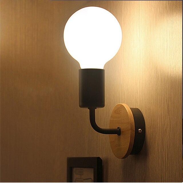 de Iluminación moderna lámpara pared madera Promoción xBoQtsrdhC