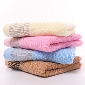 Ręcznik do twarzy geometryczne bawełniane ręczniki nowoczesna łazienka domu Hotel dla dzieci dorosłych 34*75 cm Toalla twarzy Visage serwetka toalha