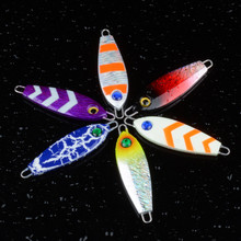 minnow 6color Iron plate JIG Lead fish Artificial bait 7cm/35g The bionic Metal lure fishing accessories topwater new